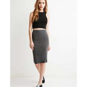 Forever 21 Classic Grey Pencil Skirt